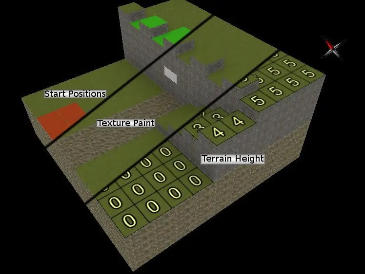 The three modes of Project Aleron's map editor.