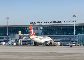 Istanbul, Turkey - May 24th, 2017: Ataturk Havalimani Airport is the major airport in Istanbul serving destinations from around the world