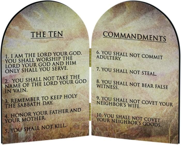 The 'fake' ten commandments