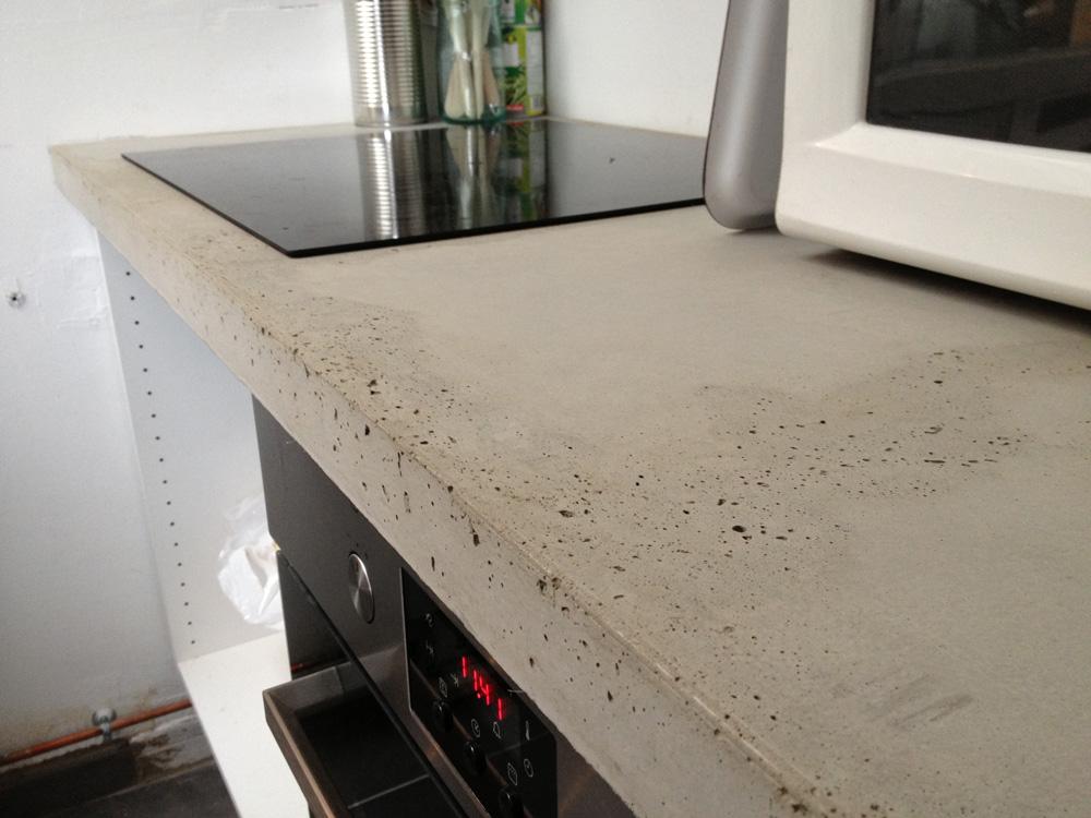 plan de travail beton brut de decoffrage