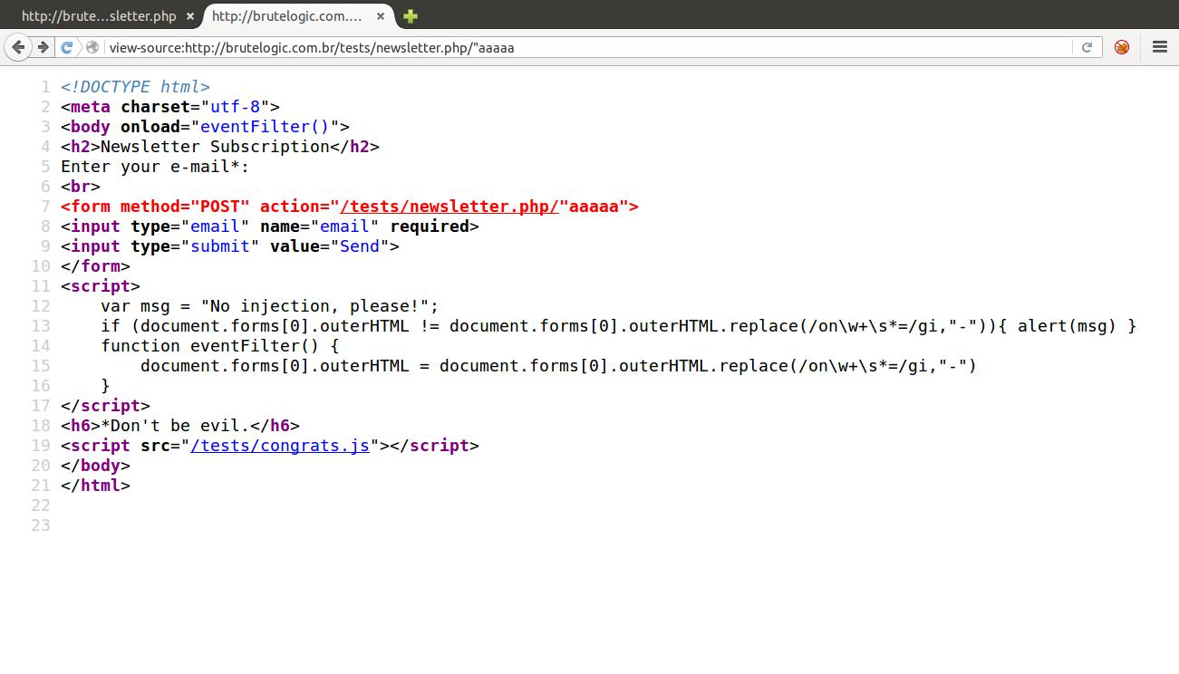 Source Breaking Injections Brute Xss