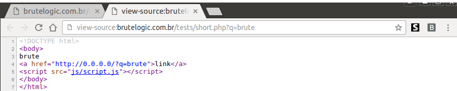 The Shortest Reflected XSS Attack Possible - Brute XSS