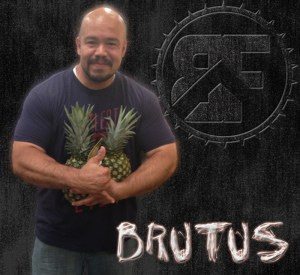 Why is Brutus Holding 2 pineapples?