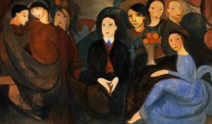 Guillaume Apollinaire et ses amis par Marie-Laurencin (1909)