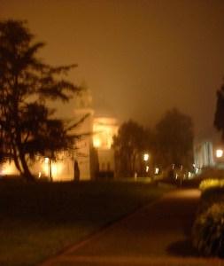 University of San Francisco at night.