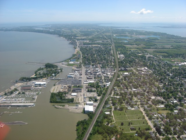 Port Clinton from the air