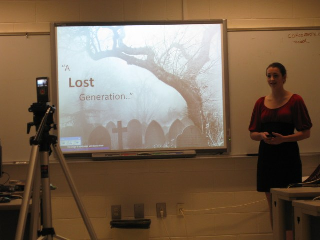 Presentation Zen example, by The Unquiet Librarian