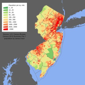 New Jersey Population map.