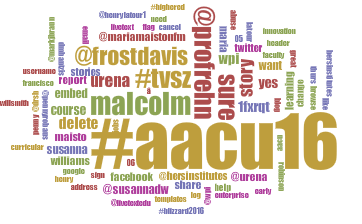AAC&U tag cloud by Julie Kane