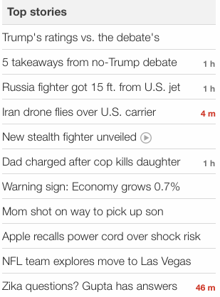 CNN headlines