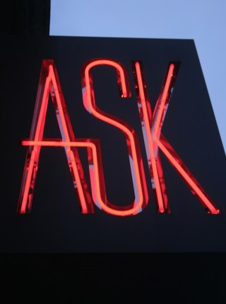 """""""Ask"""", photo by Anne Thorniley"""