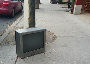 tv dead on street
