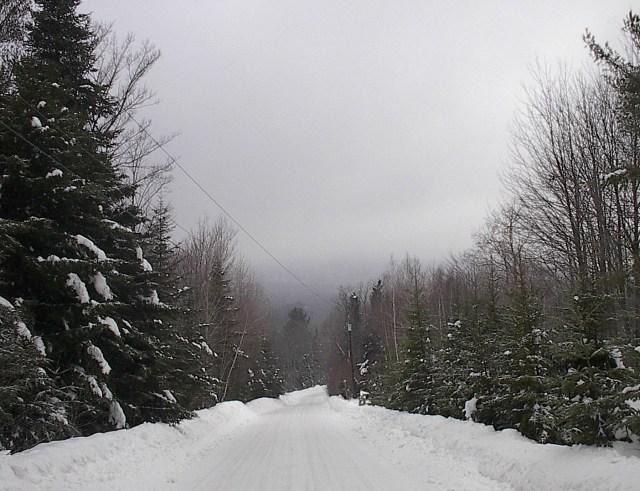 Pearl Lee Road in snow