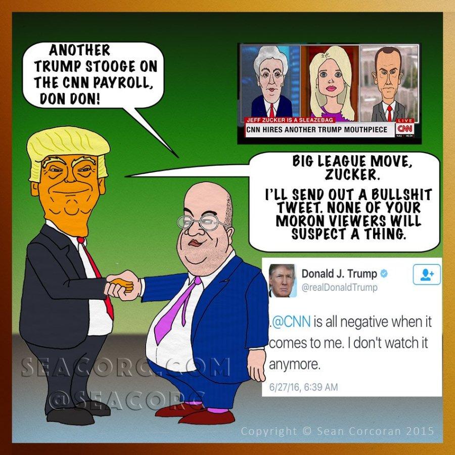 Trump CNN cartoon