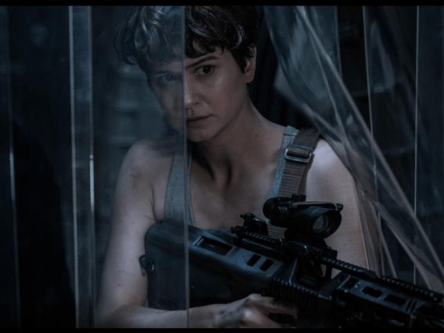 Alien Covenant heroine in plastic