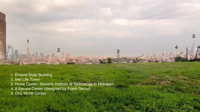 NYC skyline, annotated: Bill Brenzon