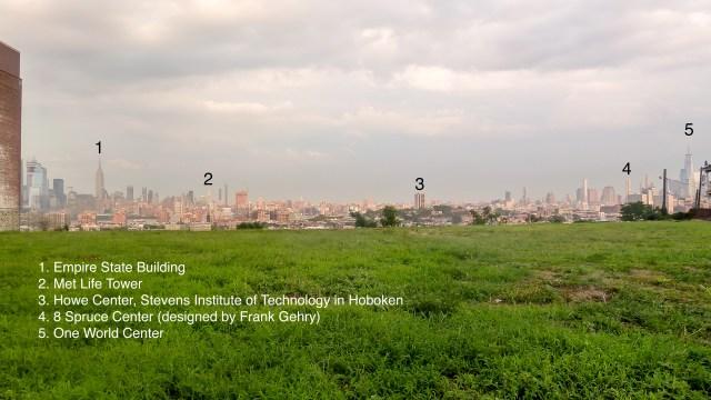 NYC skyline, annotated: Bill Brenzon