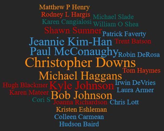 Patreon wall of credits for 2018 Sept 19