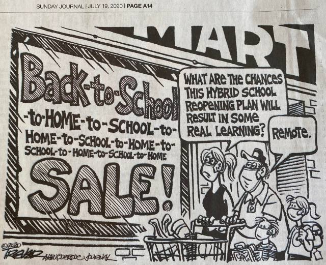 back to school_John Trever Albuquerque Journal 19 Jul 20