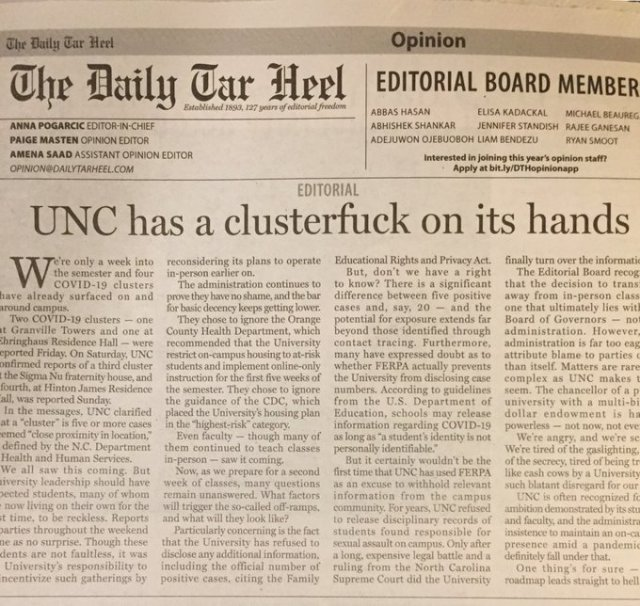coronavirus UNC Chapel Hill_cluster