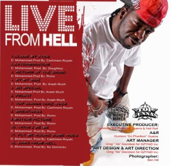 CD Design: Hell Rell Live From Hell