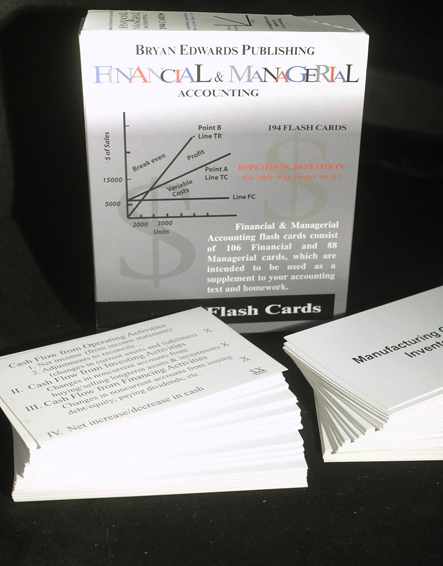 Financial & Managerial Flash Cards - bryanedwards.com