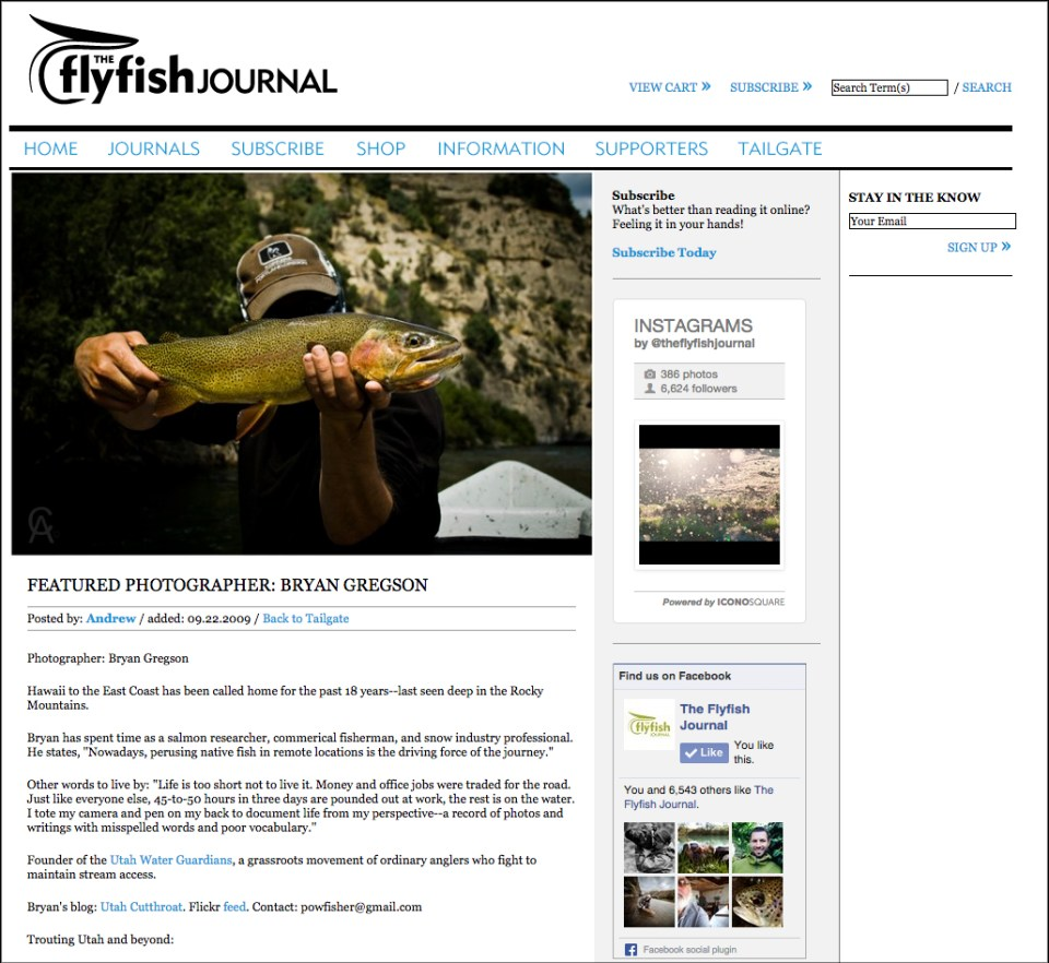 Featured Photographer | The FlyFish Journal, 2009