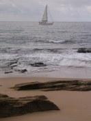 Sailboat off the Cape of Trafalgar