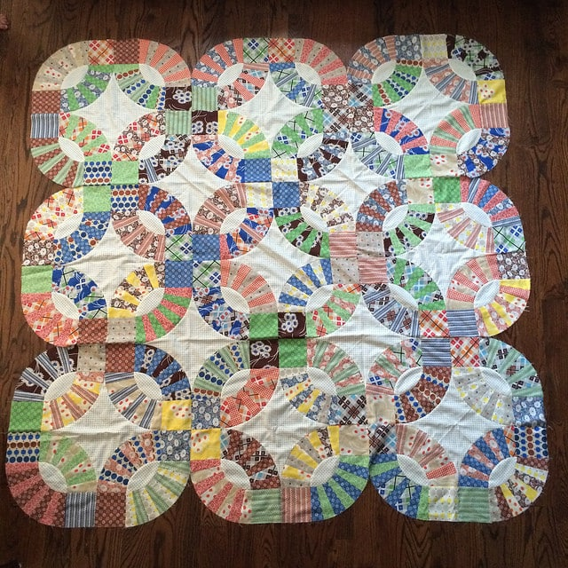 Pickle Dish Quilt Top {A Finish!}