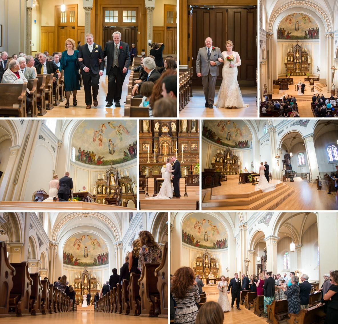 Catholic Wedding at Church of the Assumption in St. Paul MN.