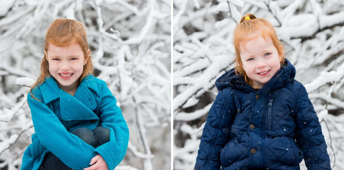 Snowy Mini Family Session at Hawk Ridge in Duluth, MN.