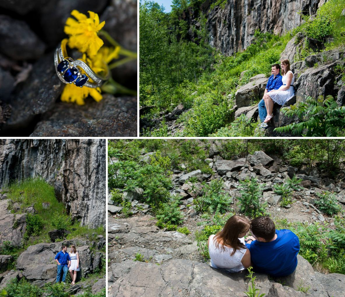 Engagement photos in Duluth, MN.