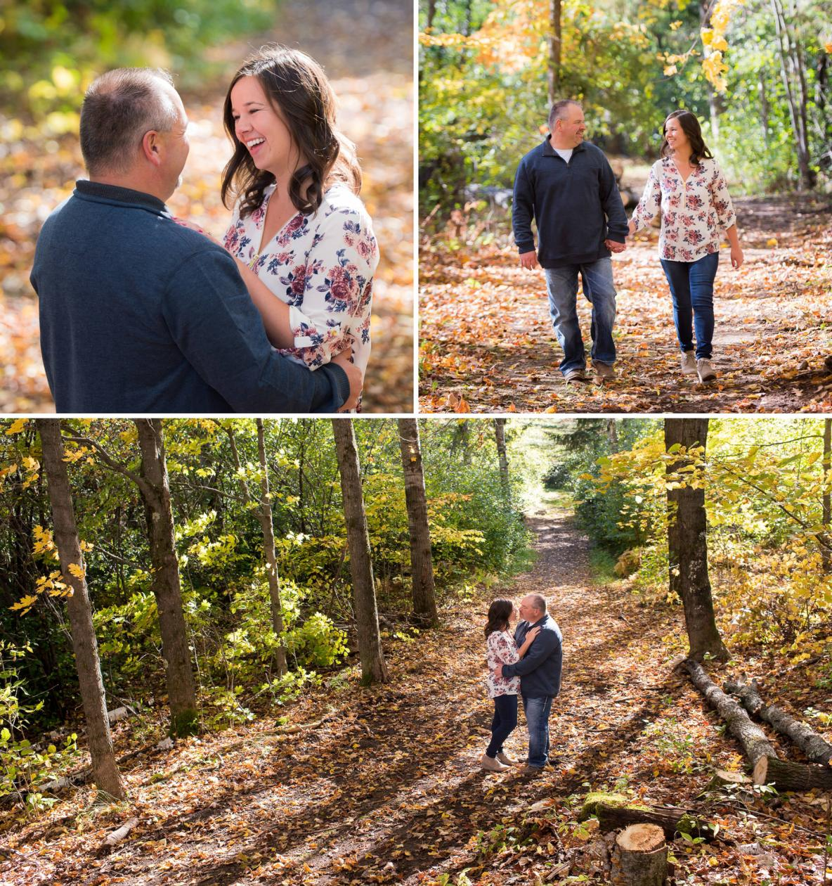 Fall colors engagement shoot in Duluth, MN.