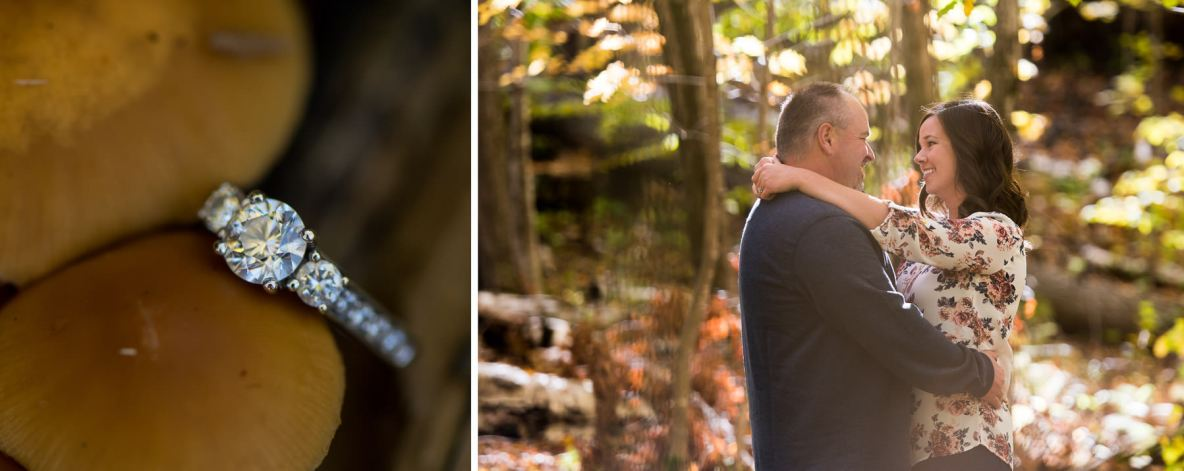 Duluth engagement shoot at the Hartley Nature Center.