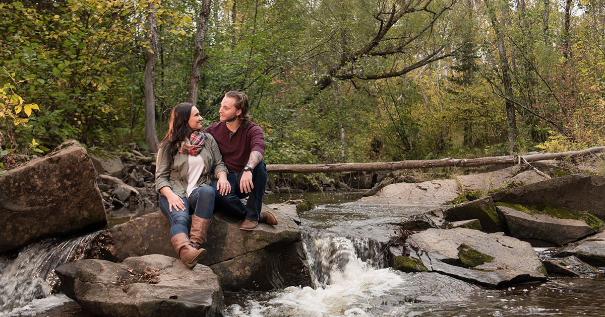 Fall engagement shoot on Hawk Ridge.