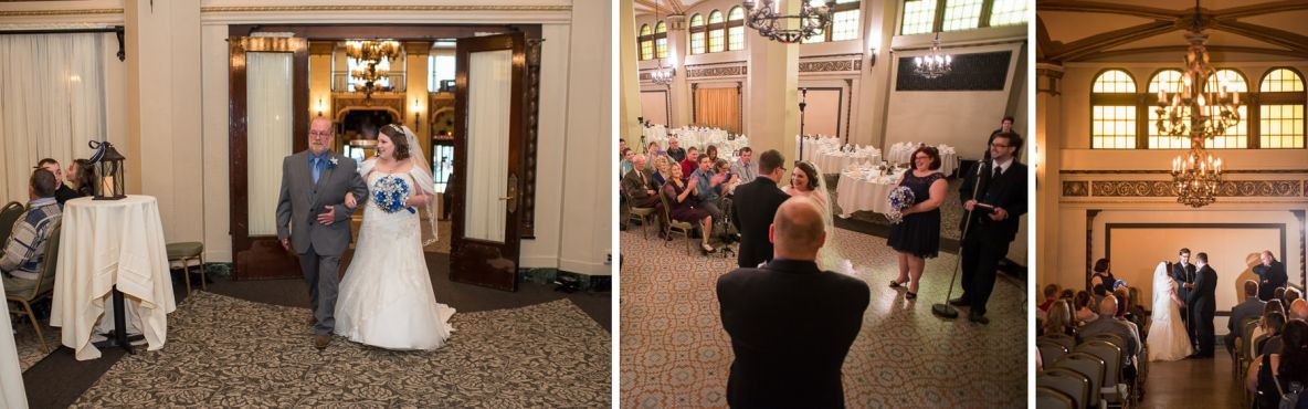 Photos of the indoor ceremony at the Moorish Room.