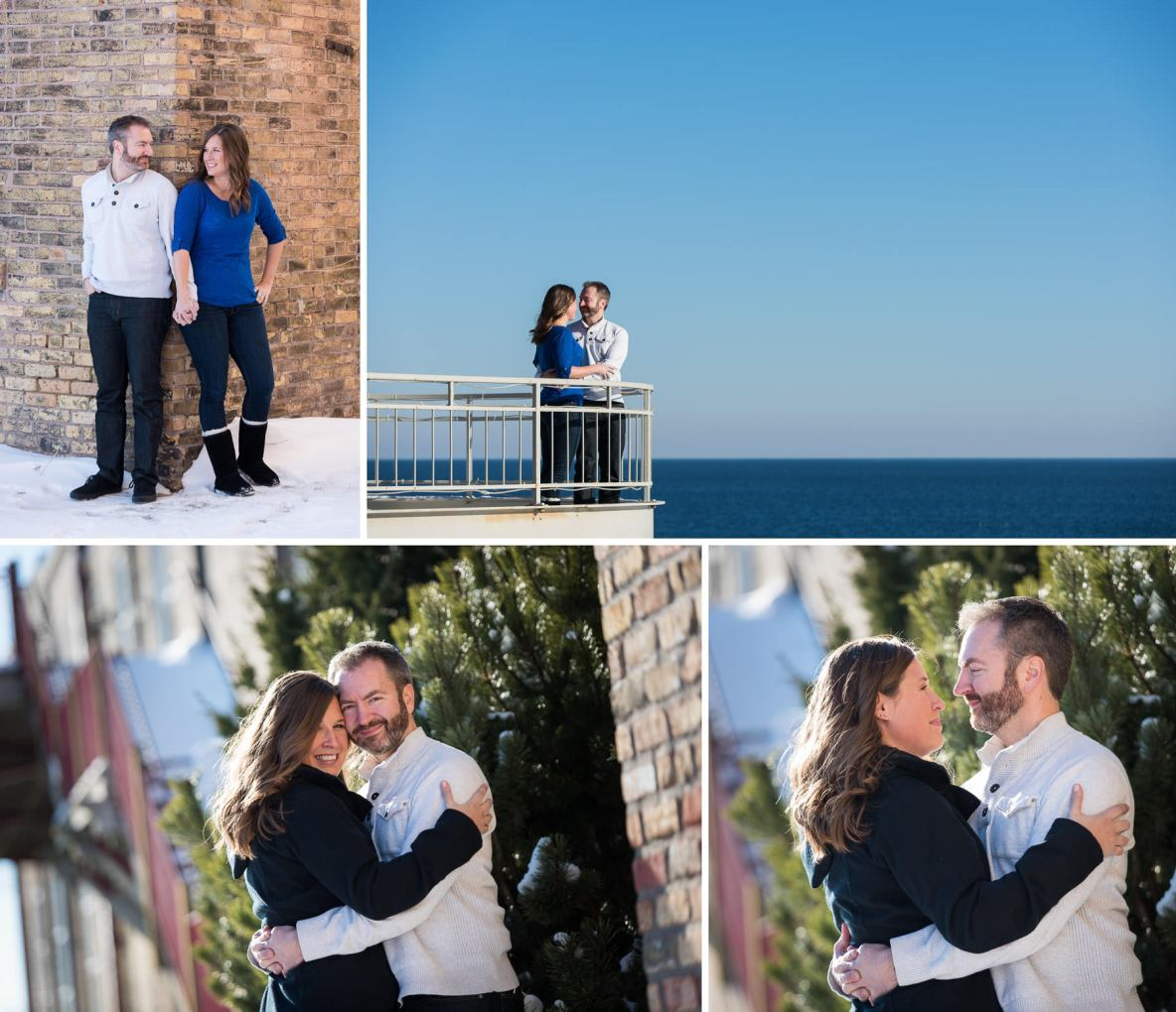 Couple photos outside by Lake Superior.