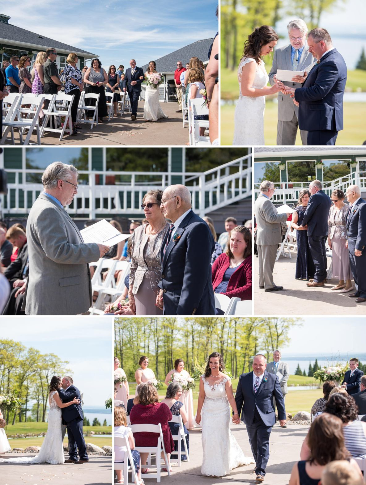 Photos of the outdoor ceremony in Bayfield, WI.
