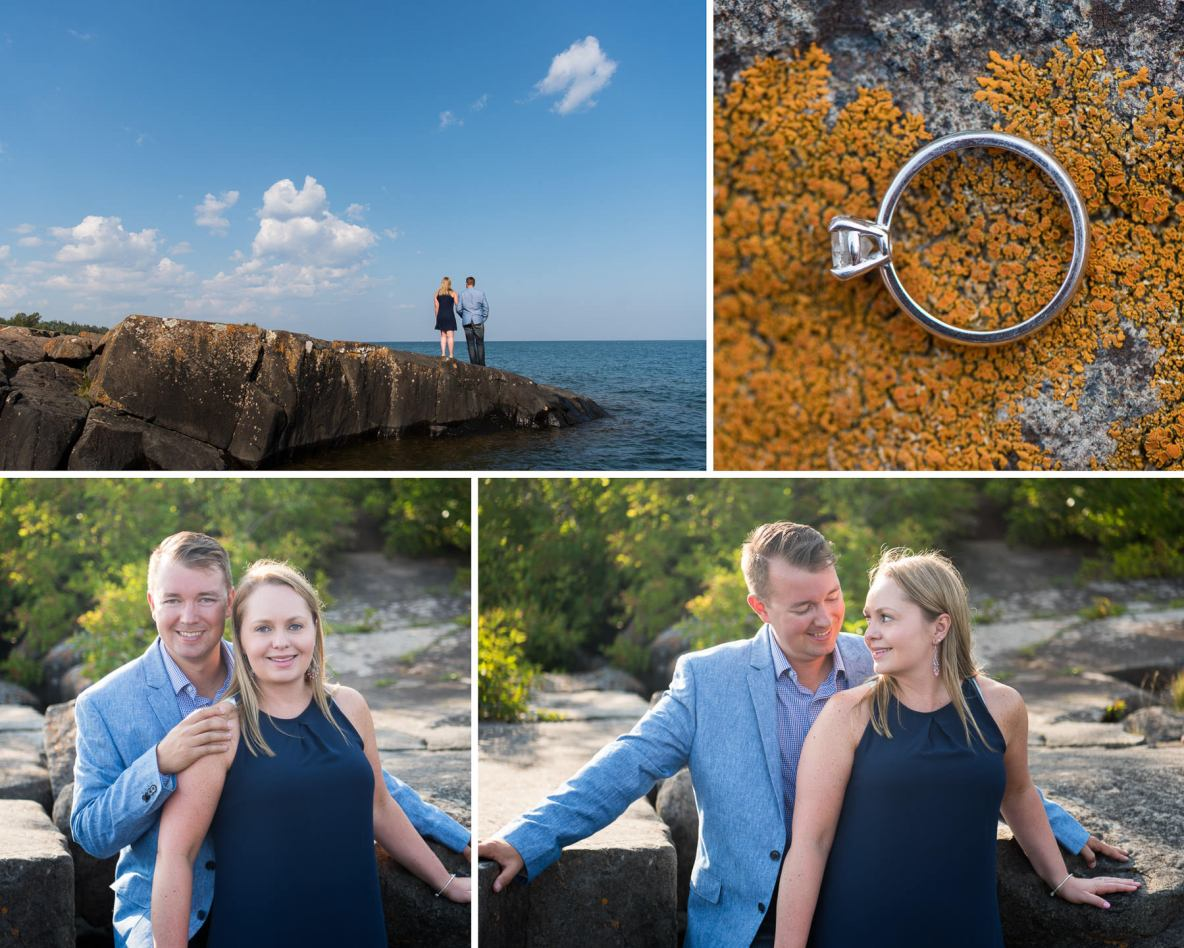 Couple photos with nature and Lake Superior in the background.