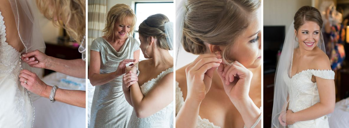 Bride getting ready photos.