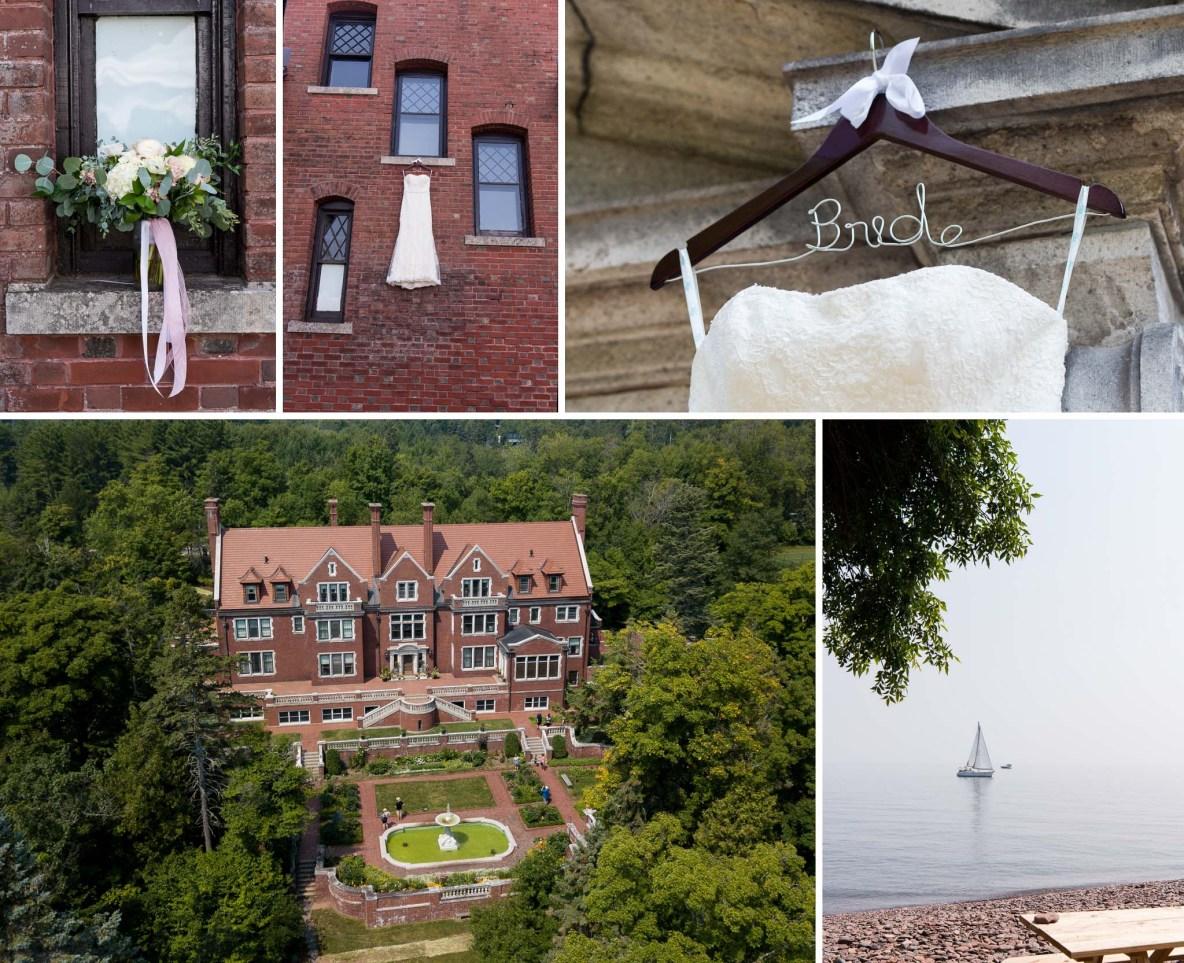 Wedding details at Glensheen Mansion.