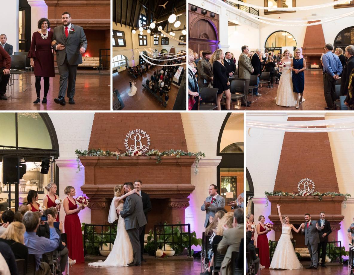 Lex and Maddie's wedding ceremony.