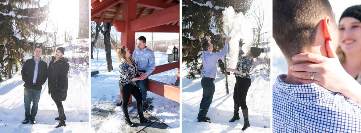 Photos of Brad and Miala at Enger Tower.