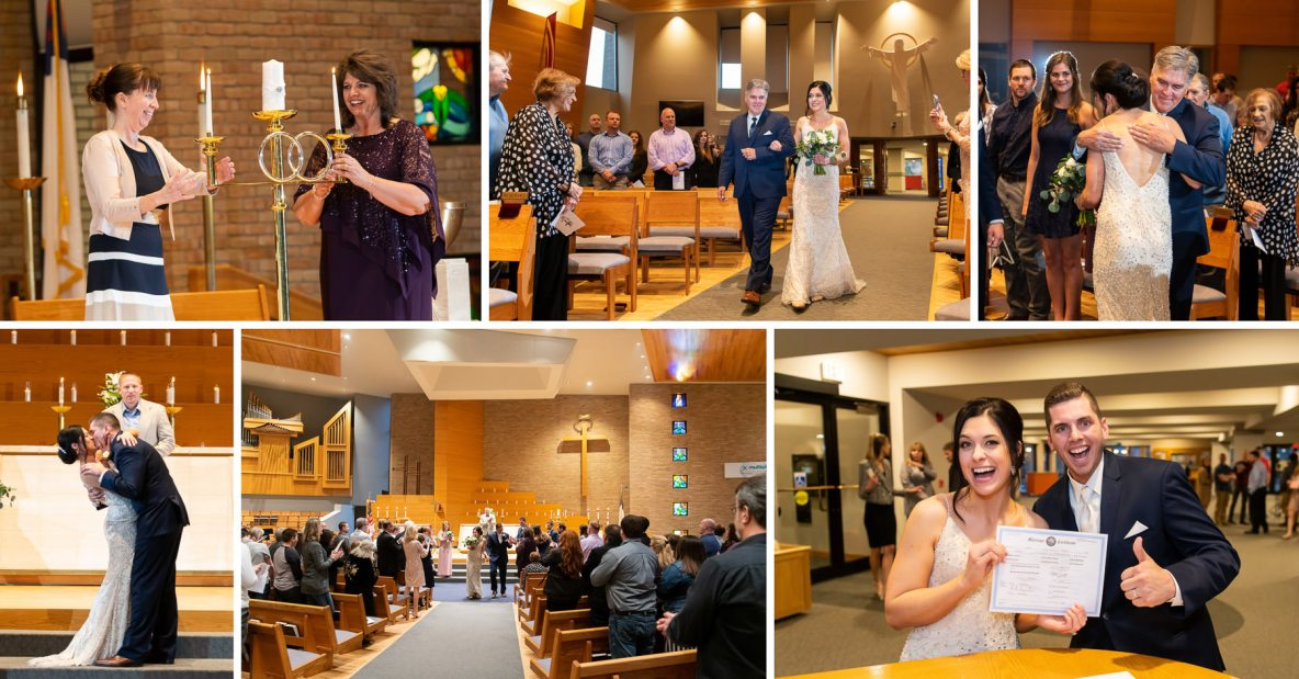 Mitchell and Chelsea's wedding ceremony.