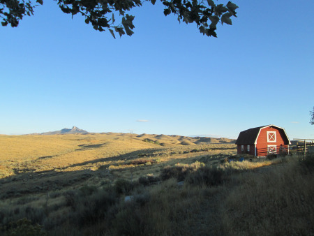 Beautiful views from the Malmberg house North of Cody, WY