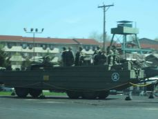 """Amphibious vehicles locally known as """"Ducks""""."""