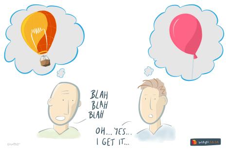 Articulation of an idea - balloons