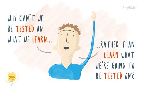 Why cant we be tested on what we learn