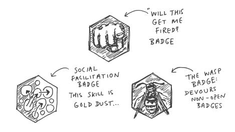 dialogue badges
