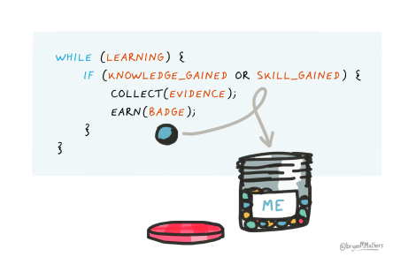 Earning a coding badge